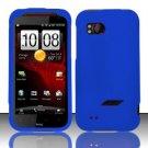 Hard Rubber Feel Plastic Case for HTC Rezound (Verizon) - Blue