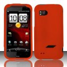 Hard Rubber Feel Plastic Case for HTC Rezound (Verizon) - Orange