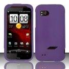 Hard Rubber Feel Plastic Case for HTC Rezound (Verizon) - Purple