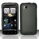 Hard Rubber Feel Design Case for HTC Sensation 4G (T-Mobile) - Carbon Fiber