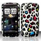 Hard Rubber Feel Design Case for HTC Sensation 4G (T-Mobile) - Colorful Leopard