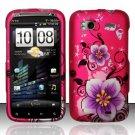 Hard Rubber Feel Design Case for HTC Sensation 4G (T-Mobile) - Hibiscus Flowers
