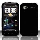 Hard Rubber Feel Plastic Case for HTC Sensation 4G (T-Mobile) - Black