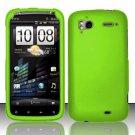 Hard Rubber Feel Plastic Case for HTC Sensation 4G (T-Mobile) - Green