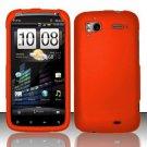 Hard Rubber Feel Plastic Case for HTC Sensation 4G (T-Mobile) - Orange