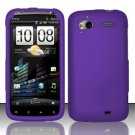 Hard Rubber Feel Plastic Case for HTC Sensation 4G (T-Mobile) - Purple