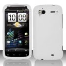 Hard Rubber Feel Plastic Case for HTC Sensation 4G (T-Mobile) - White