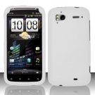Hard Rubber Feel Plastic Case for HTC Sensation 4G (T-Mobile) - White