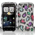Hard Rhinestone Design Case for HTC Sensation 4G (T-Mobile) - Colorful Leopard