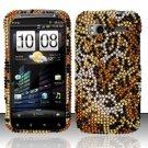 Hard Rhinestone Design Case for HTC Sensation 4G (T-Mobile) - Cheetah