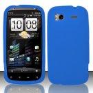 Soft Premium Silicone Case for HTC Sensation 4G (T-Mobile) - Blue