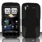 Hybrid Silicone/Plastic Mesh Case for HTC Sensation 4G (T-Mobile) - Black