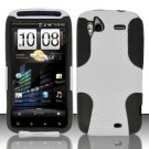 Hybrid Silicone/Plastic Mesh Case for HTC Sensation 4G (T-Mobile) - White