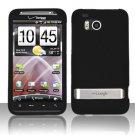 Hard Rubber Feel Plastic Case for HTC ThunderBolt 4G (Verizon) - Black