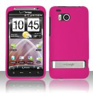 Hard Rubber Feel Plastic Case for HTC ThunderBolt 4G (Verizon) - Pink