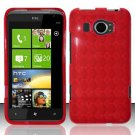 TPU Crystal Gel Case for HTC Titan II (AT&T) - Red