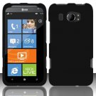 Hard Rubber Feel Plastic Case for HTC Titan II (AT&T) - Black