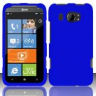 Hard Rubber Feel Plastic Case for HTC Titan II (AT&T) - Blue