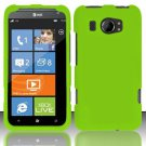 Hard Rubber Feel Plastic Case for HTC Titan II (AT&T) - Green