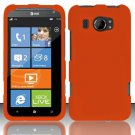 Hard Rubber Feel Plastic Case for HTC Titan II (AT&T) - Orange