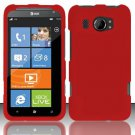 Hard Rubber Feel Plastic Case for HTC Titan II (AT&T) - Red