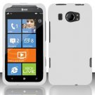 Hard Rubber Feel Plastic Case for HTC Titan II (AT&T) - White