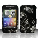 Hard Rubber Feel Design Case for HTC Wildfire S - Midnight Garden