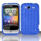 TPU Crystal Gel Case for HTC Wildfire S - Blue
