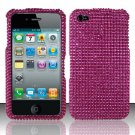 Hard Rhinestone Design Case for Apple iPhone 4/4S - Pink