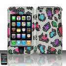 Hard Rhinestone Design Case for Apple iPhone 3G/3Gs - Colorful Leopard