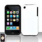 Hard Rubber Feel Silicone Combo Case for Apple iPhone 3G/3Gs - White