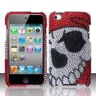 Hard Rhinestone Design Case for Apple iPod Touch 4 - Pirate Skull