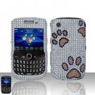 Hard Rhinestone Design Case for Blackberry Curve 8520/9300 - Dog Paws