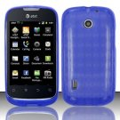TPU Crystal Gel Case for Huawei Fusion (AT&T) - Blue