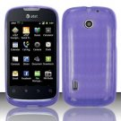 TPU Crystal Gel Case for Huawei Fusion (AT&T) - Purple