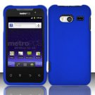 Hard Rubber Feel Plastic Case for Huawei Activa 4G - Blue