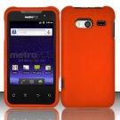 Hard Rubber Feel Plastic Case for Huawei Activa 4G - Orange
