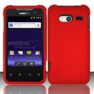 Hard Rubber Feel Plastic Case for Huawei Activa 4G - Red