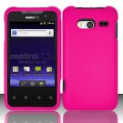 Hard Rubber Feel Plastic Case for Huawei Activa 4G - Pink