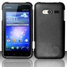 Hard Rubber Feel Design Case for Huawei Activa 4G - Carbon Fiber