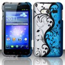 Hard Rubber Feel Design Case for Huawei Activa 4G - Blue Vines