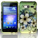 Hard Rubber Feel Design Case for Huawei Activa 4G - Hawaiian Flowers