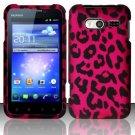 Hard Rubber Feel Design Case for Huawei Activa 4G - Pink Leopard