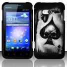 Hard Rubber Feel Design Case for Huawei Activa 4G - Spade Skull