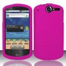 Hard Rubber Feel Plastic Case for Huawei Impulse 4G (T-Mobile) - Pink
