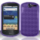 TPU Crystal Gel Case for Huawei Impulse 4G (T-Mobile) - Purple