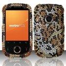 Hard Rhinestone Design Case for Huawei M835 (MetroPCS) - Cheetah