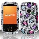 Hard Rhinestone Design Case for Huawei M835 (MetroPCS) - Colorful Leopard