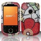 Hard Rhinestone Design Case for Huawei M835 (MetroPCS) - Fall Flowers