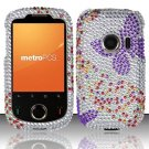 Hard Rhinestone Design Case for Huawei M835 (MetroPCS) - Purple Butterfly